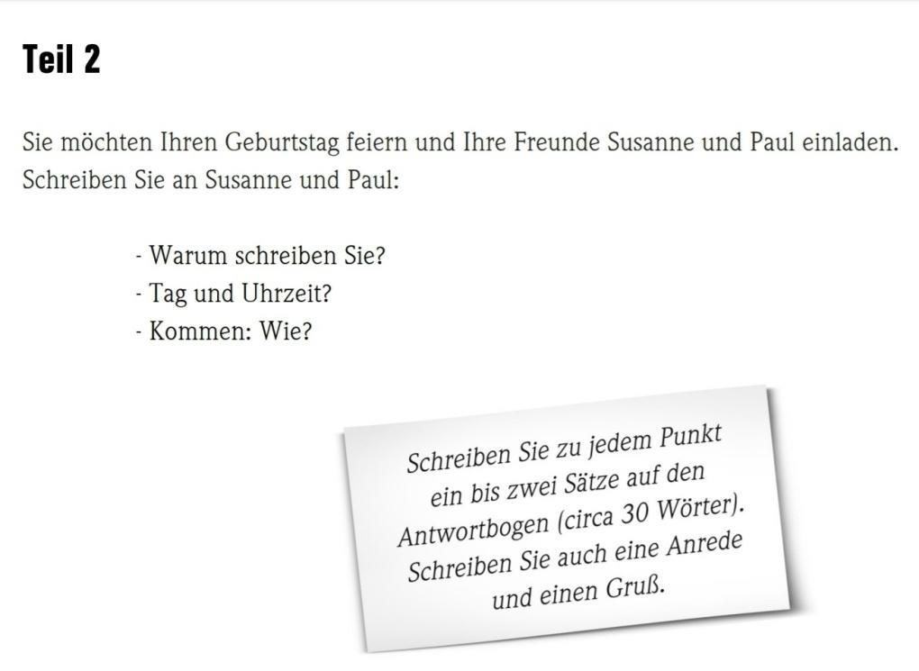 Test goethe a1 German for