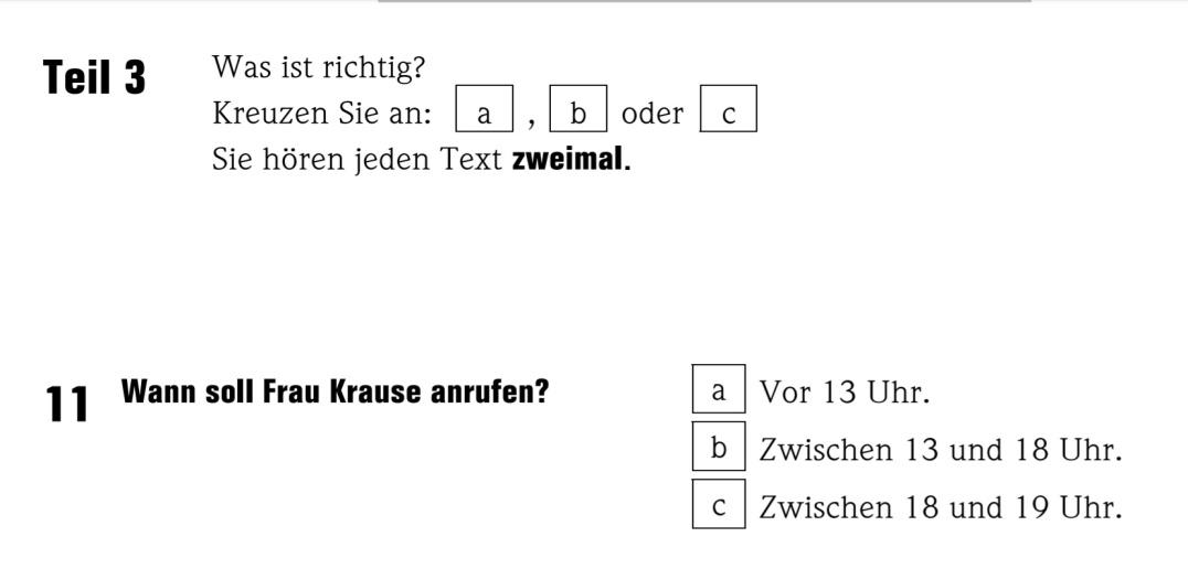 Goethe a1 test