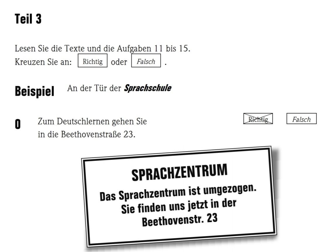 A1 exam test goethe German exams
